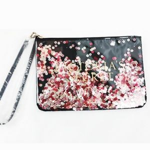 NWT Limited Edition Sequin Black Wristlet